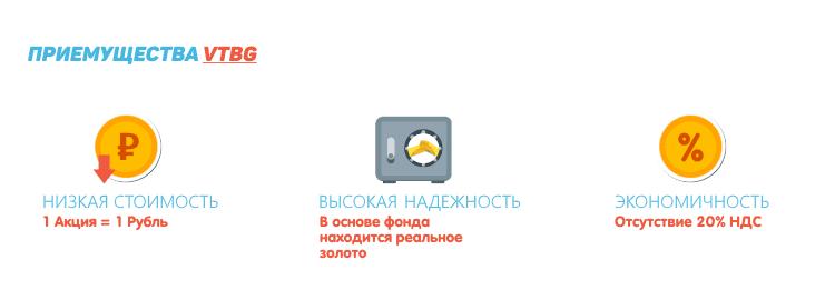 VTBG Русский ETF от ВТБ Капитал на золото.